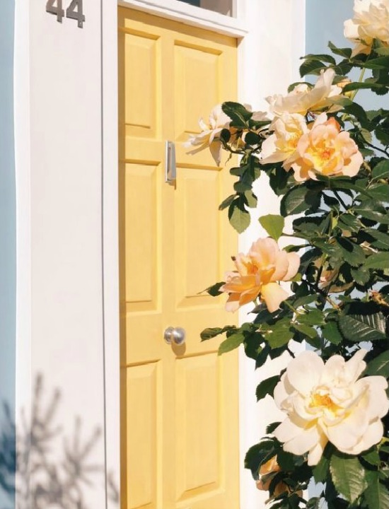 sunny-and-bright-yellow-front-door