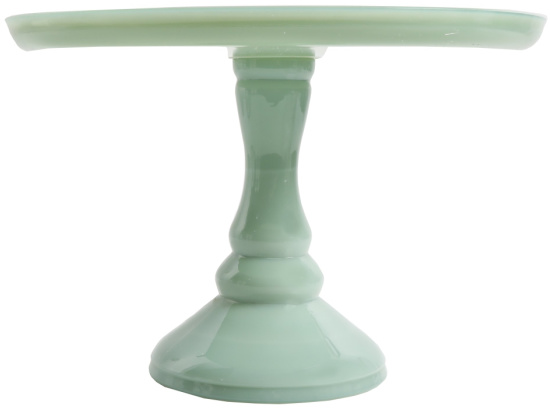 The Pioneer Woman Timeless Beauty 10-Inch Mint Green Cake Stand with Glass Cover