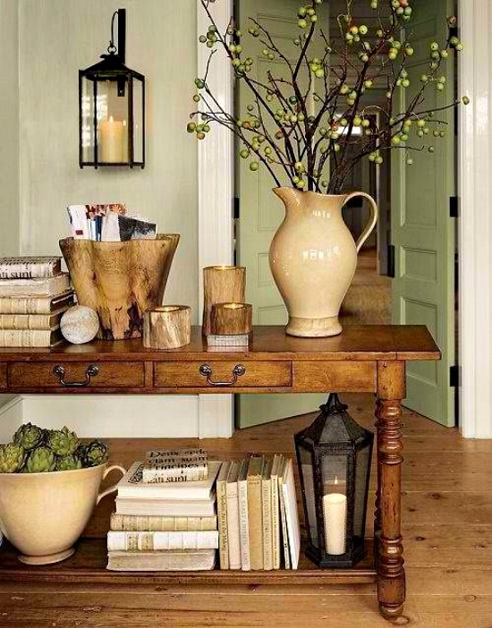 console-table-fall-decor