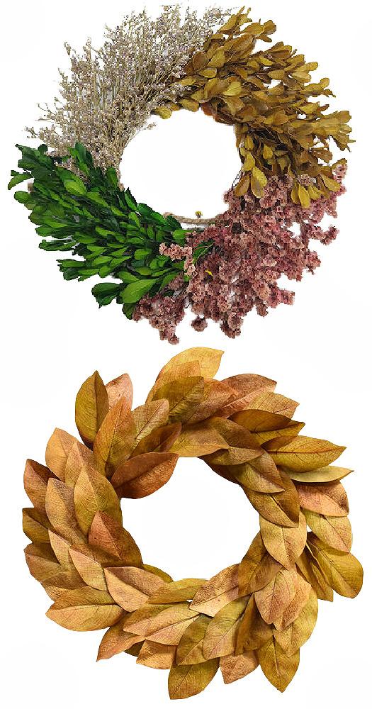 faux fall wreaths set