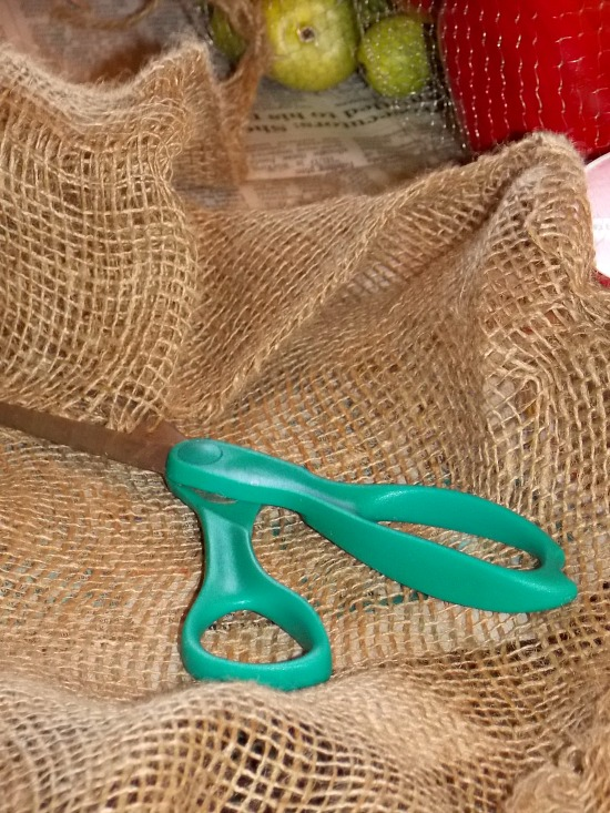 scissors-burlap