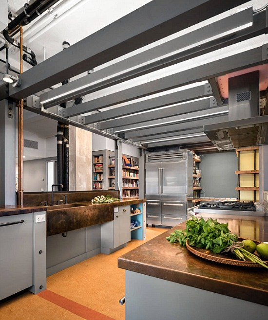 Industrial-kitchen-New-York-loft