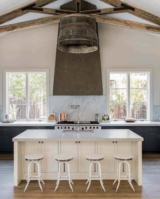 Industrial-style-kitchen-dark-cabinets
