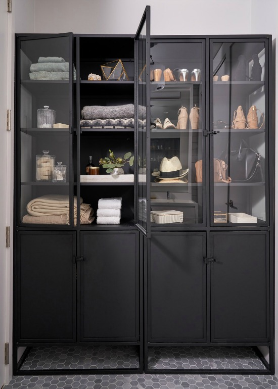 black-display-cabinet-with-shelving-industrial-Seth-Caplan-AD