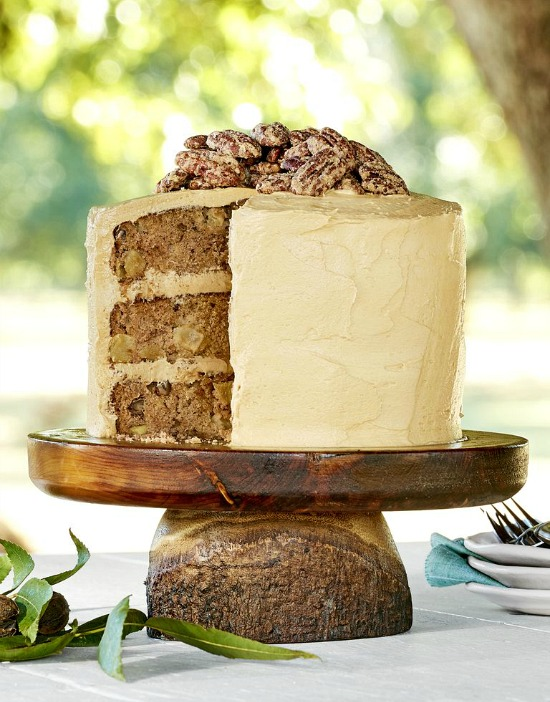 Apple-Cinnamon Layer Cake with Salted Caramel Frosting