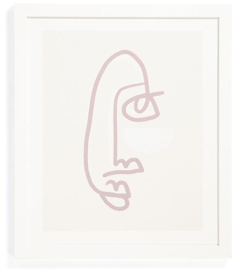 Female Line Face Framed Wall Art