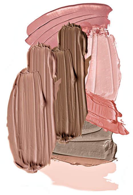 pink-and-brown-color-combination-brush-strokes