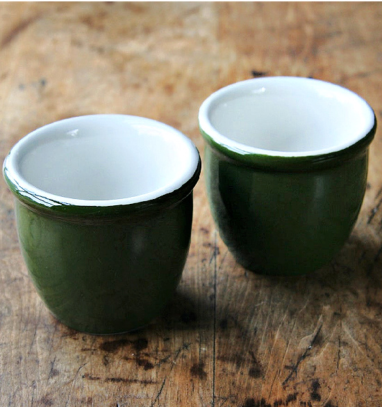 Pair of Hall China Custard Cups