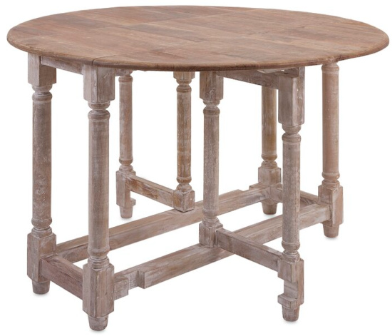 Larue Drop Leaf Solid Wood Dining Table
