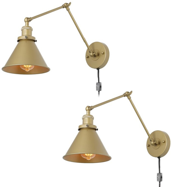 Mattia 2 - Light Dimmable Plug-In Swing Arm