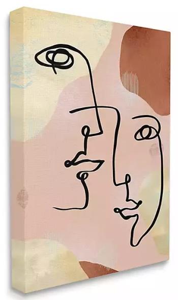 Mixed Faces Abstract Canvas Art Print