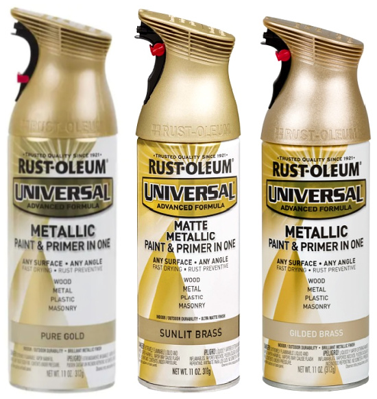 Rust-Oleum Universal All Surface Interior Exterior Metallic Spray Paint and Primer in 1