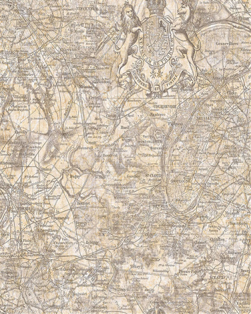 Seabrook Designs Vespucci Map Tan & Gold Wallpaper