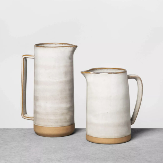 stoneware pitcher gray Hearth & Hand with Magnolia