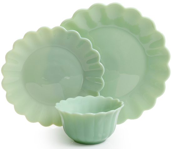 The Pioneer Woman Timeless Beauty 3-Piece Dinnerware Set, Jade