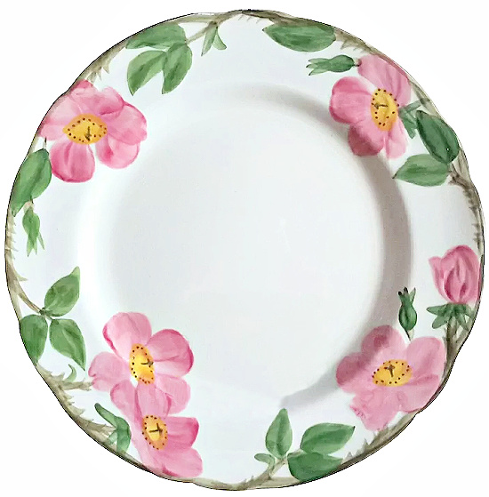 Set Of 12 Franciscan Desert Rose Dinner Plates