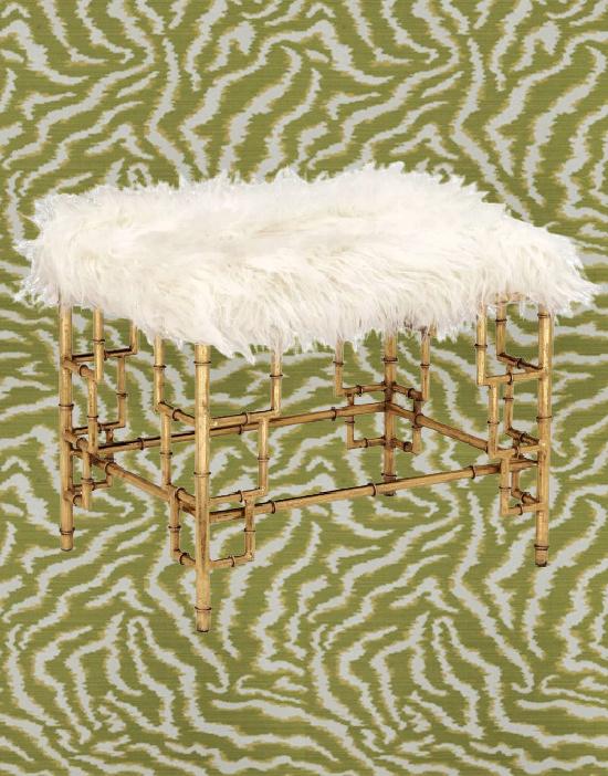 Bengal Tiger Grass Fabric by Fabricut