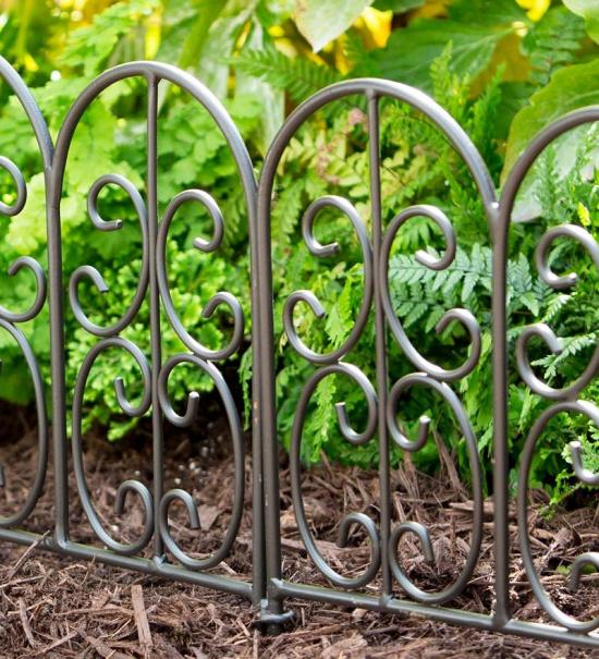 Montebello Wrought Iron Garden Edging