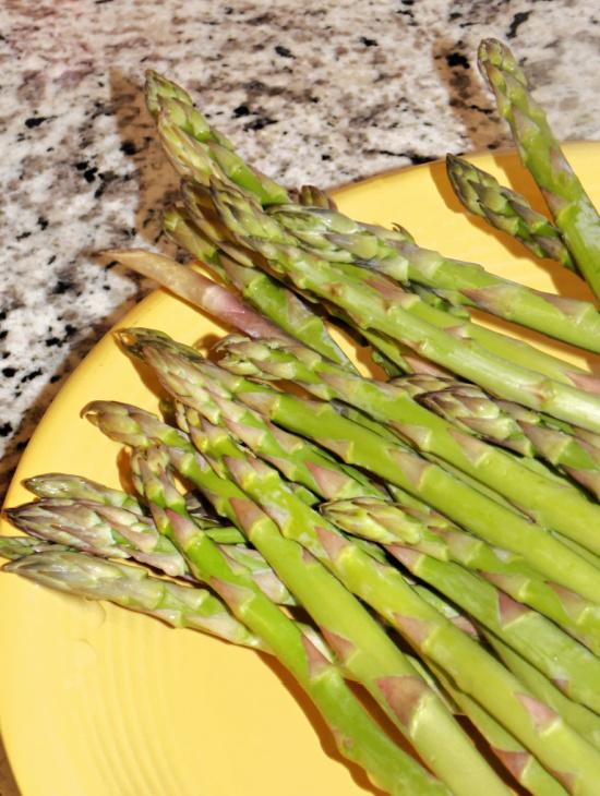 fresh spring asparagus