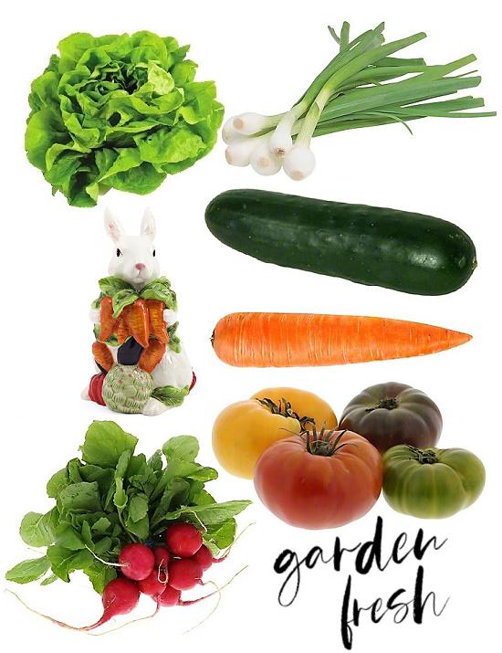garden fresh salad ingredients