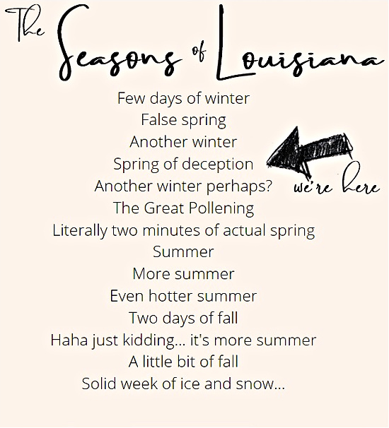 the seasons of Louisiana