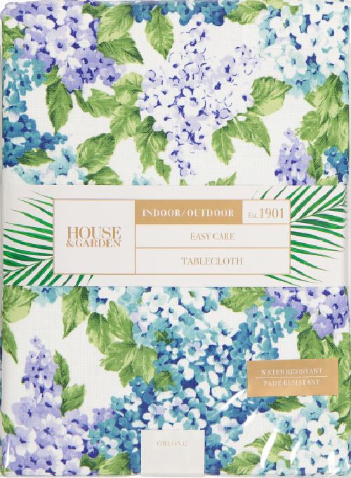 House and Garden Indoor Outdoor Hydrangea Bouquet Tablecloth