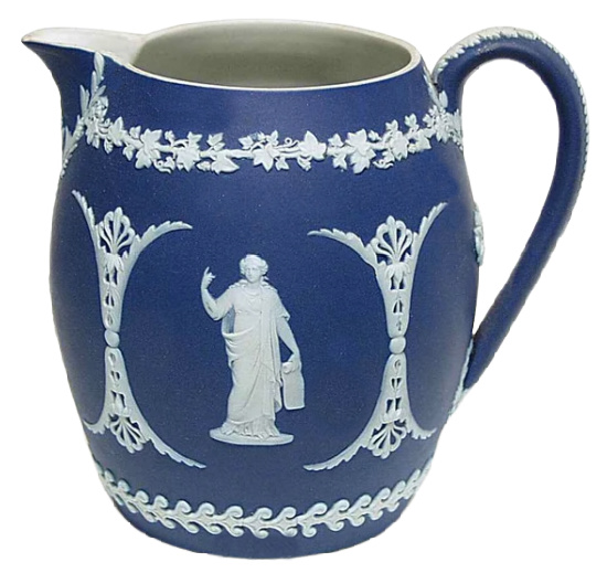 Wedgwood Blue Jasperware pitcher