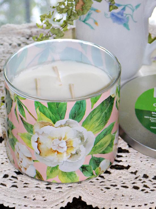 citronella candle-pink-white-magnolia