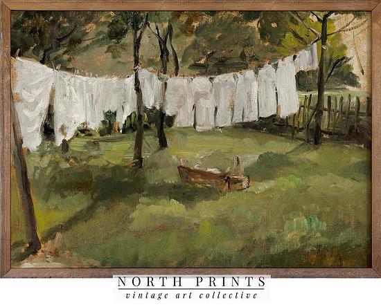 laundry-clothesline-vintage-print