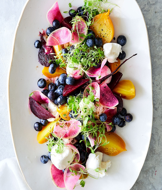 Roasted Beet & Blueberry Salad