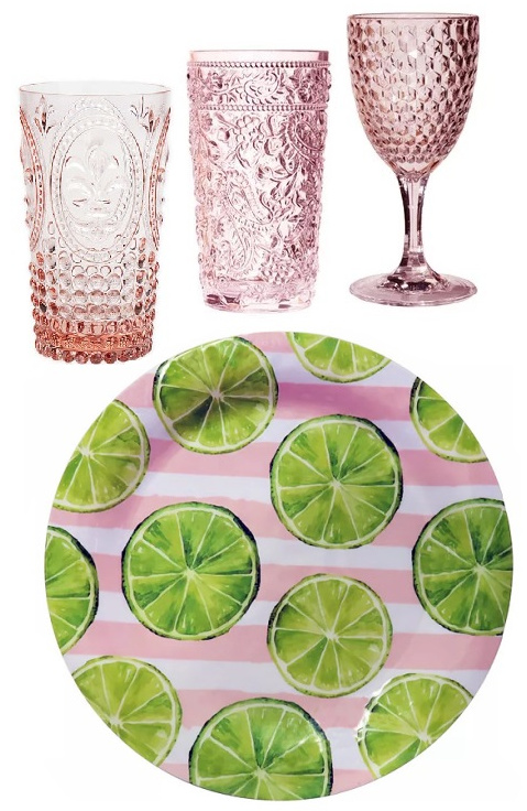 Summer outdoor plates-glassware