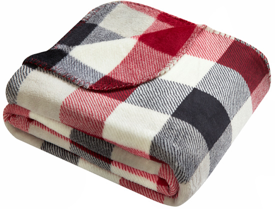 mainstays plaid red white and blue throw blanket