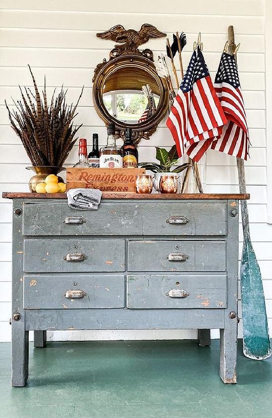 vintage-dresser-porch-bar