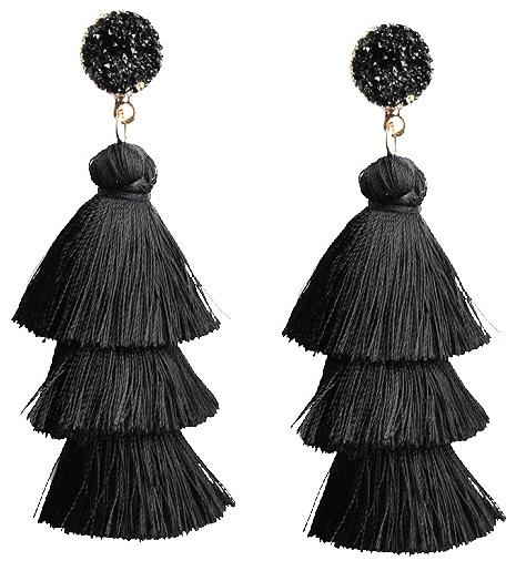 black-tassel-earrings-evening