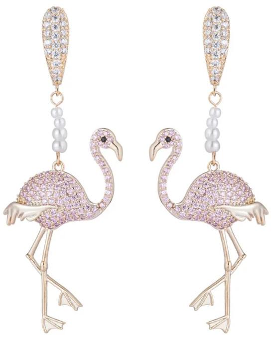 flamingo-fashion-linear-earrings