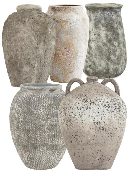 Stone-like Grey Large Decorative Vase