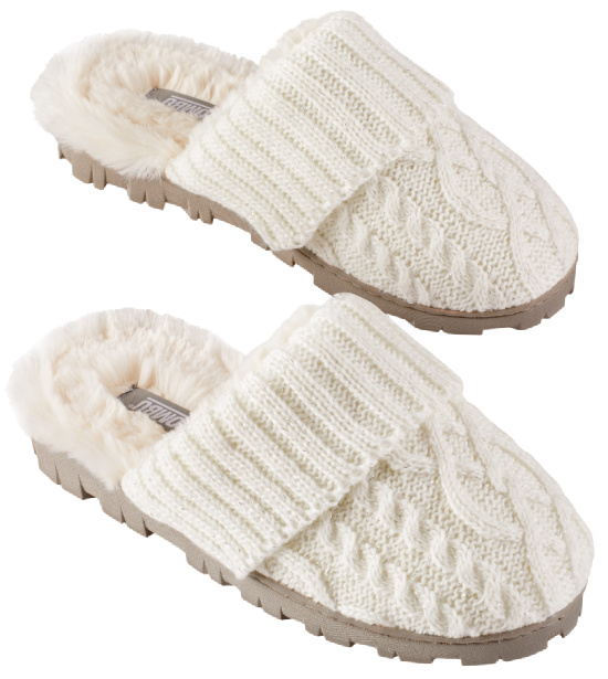 Sweater-Knit Slippers