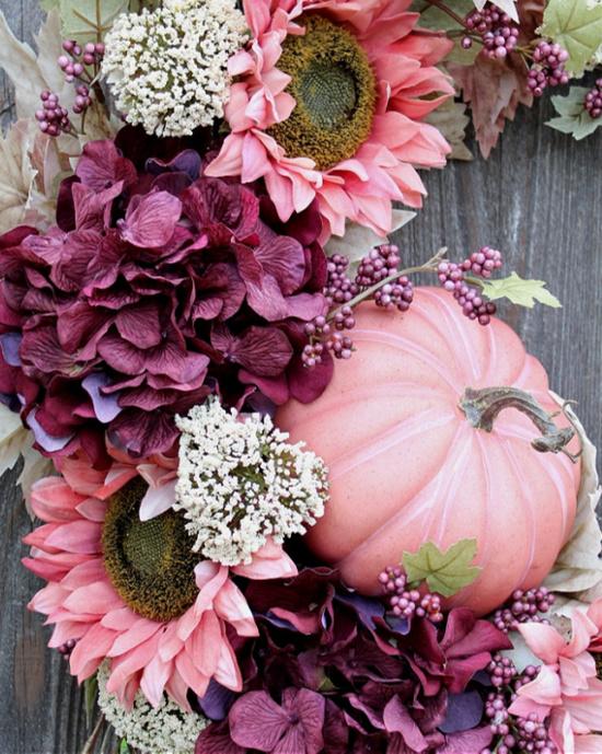pink-pumpkin-flowers-wreath (2)
