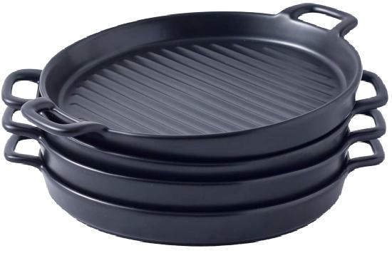 round ceramic baking dish grill dinner plates
