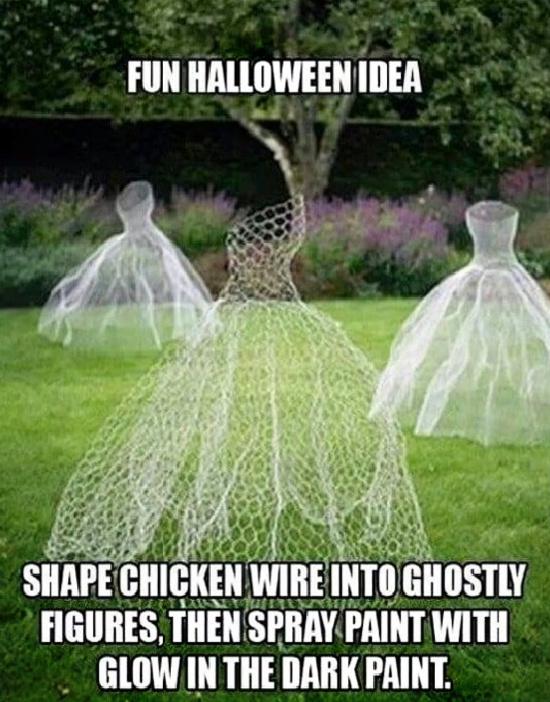 chicken-wire-figures-Halloween